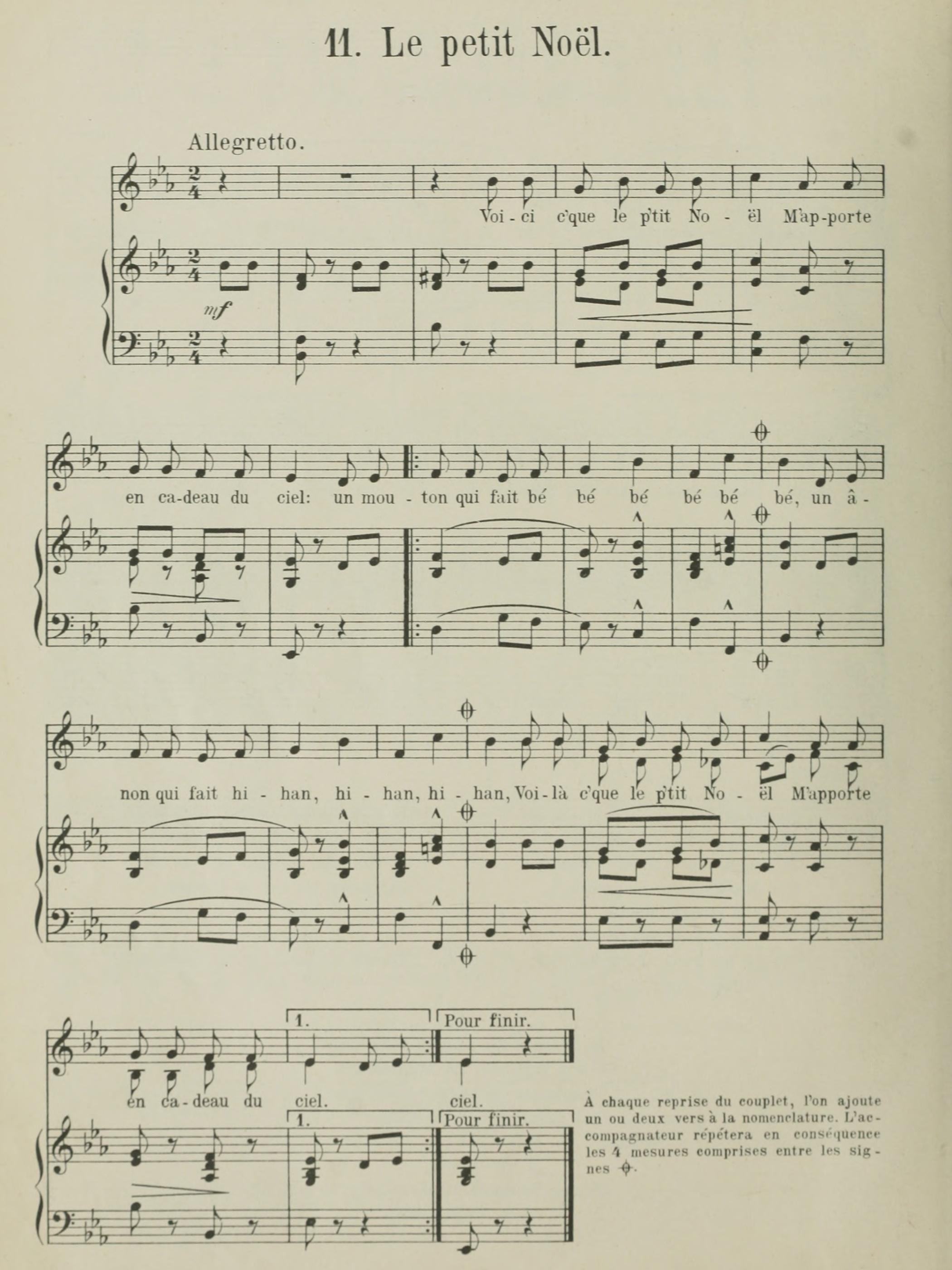 Extrait 1 de la partition publiée dans le recueil «Chansons populaires-romandes - Rondes et Enfantines», W.Sandoz, Neuchâtel