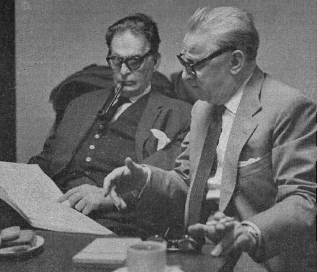 Otto Klemperer et Walter Legge, une photo de Godfrey MacDomnic, env. 1962, cliquer pour une vue agrandie