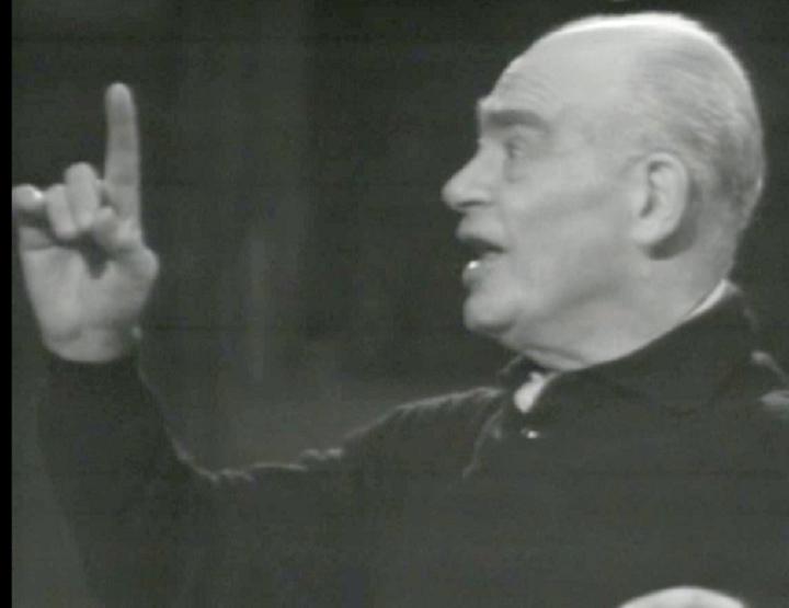 Paul Kletzki, cité de la vidéo d'une répétion avec l'OSR, 22 avril 1968, cliquer pour plus d'infos