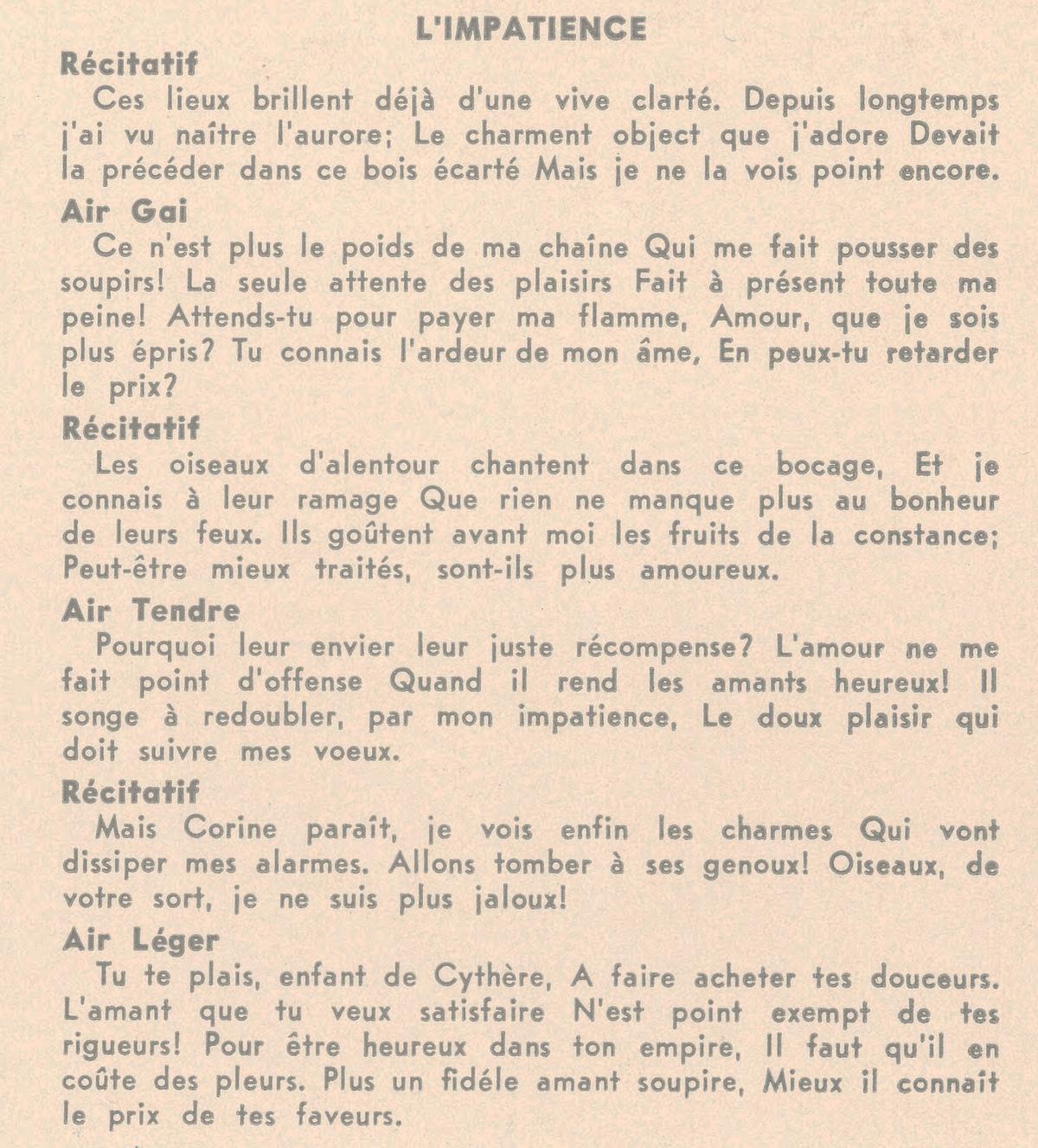 Le texte tel que publié au verso de la pochette du disque Lyrichord LL 44
