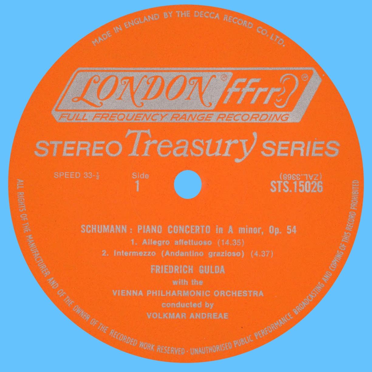 Étiquette recto du disque LONDON STS 1502