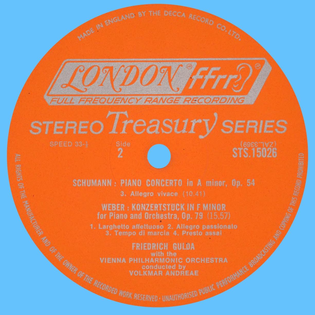 Étiquette verso du disque LONDON STS 1502