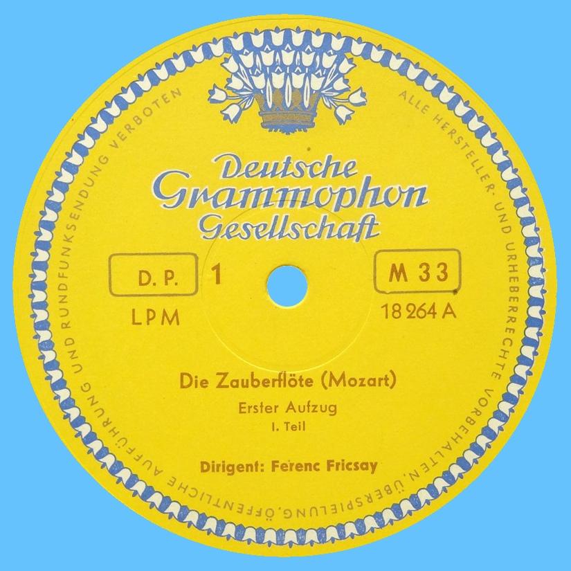 Étiquette recto du disque LPM 18 264