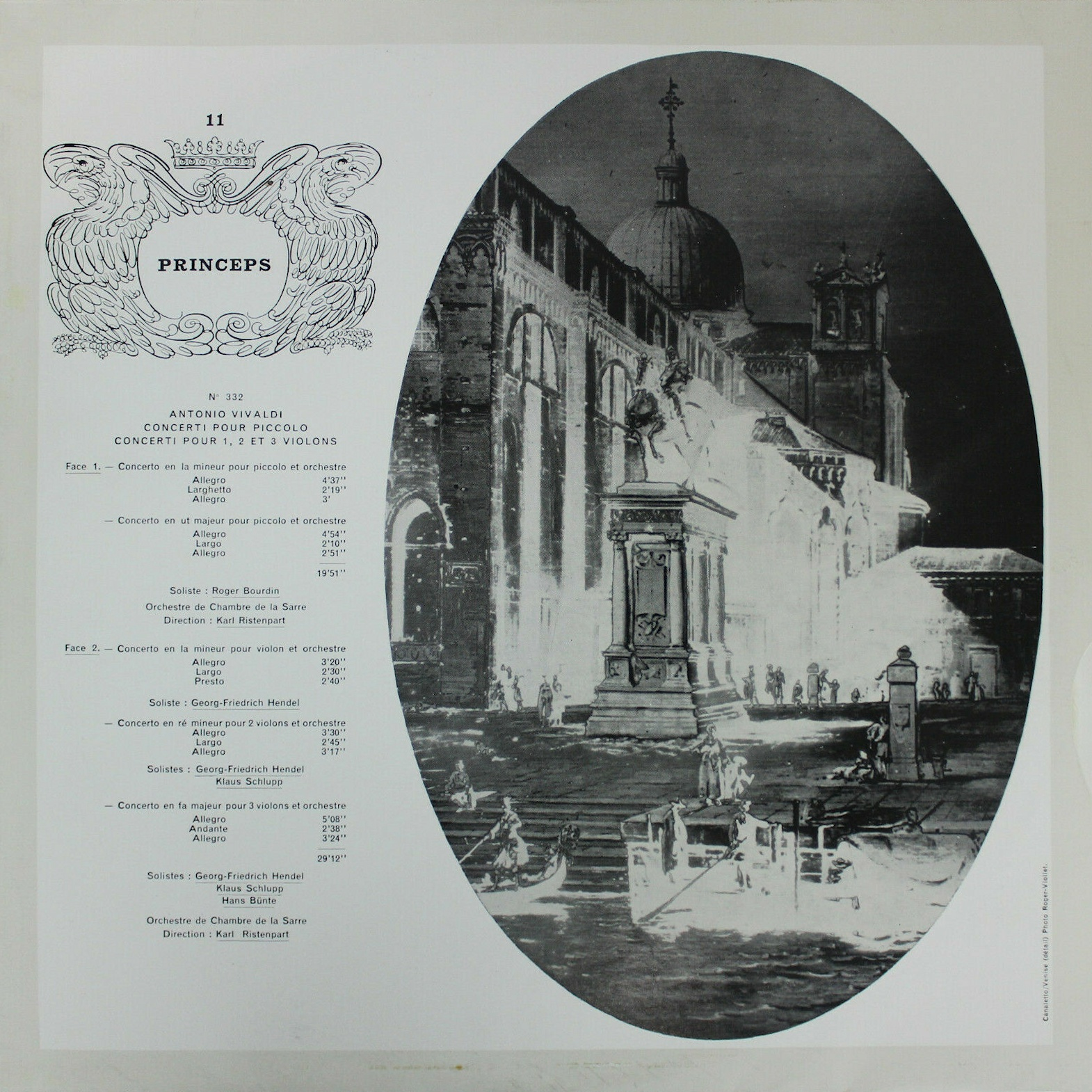 """Princeps 11"""" CFD 332, recto de la pochette"""