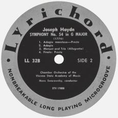 Étiquette verso du disque Lyrichord LL 32