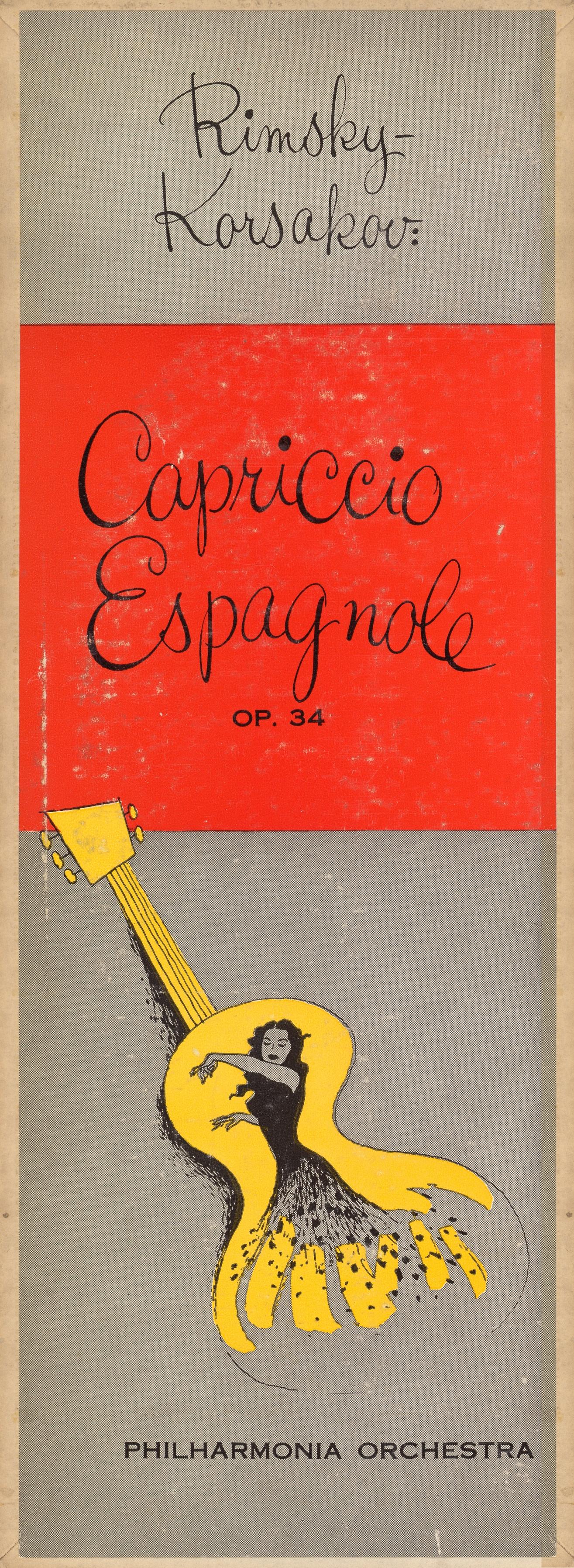 extrait du recto de la pochette du disque Metro Goldwyn Mayer MGM E 3022, Cliquer sur la photo pour une vue agrandie