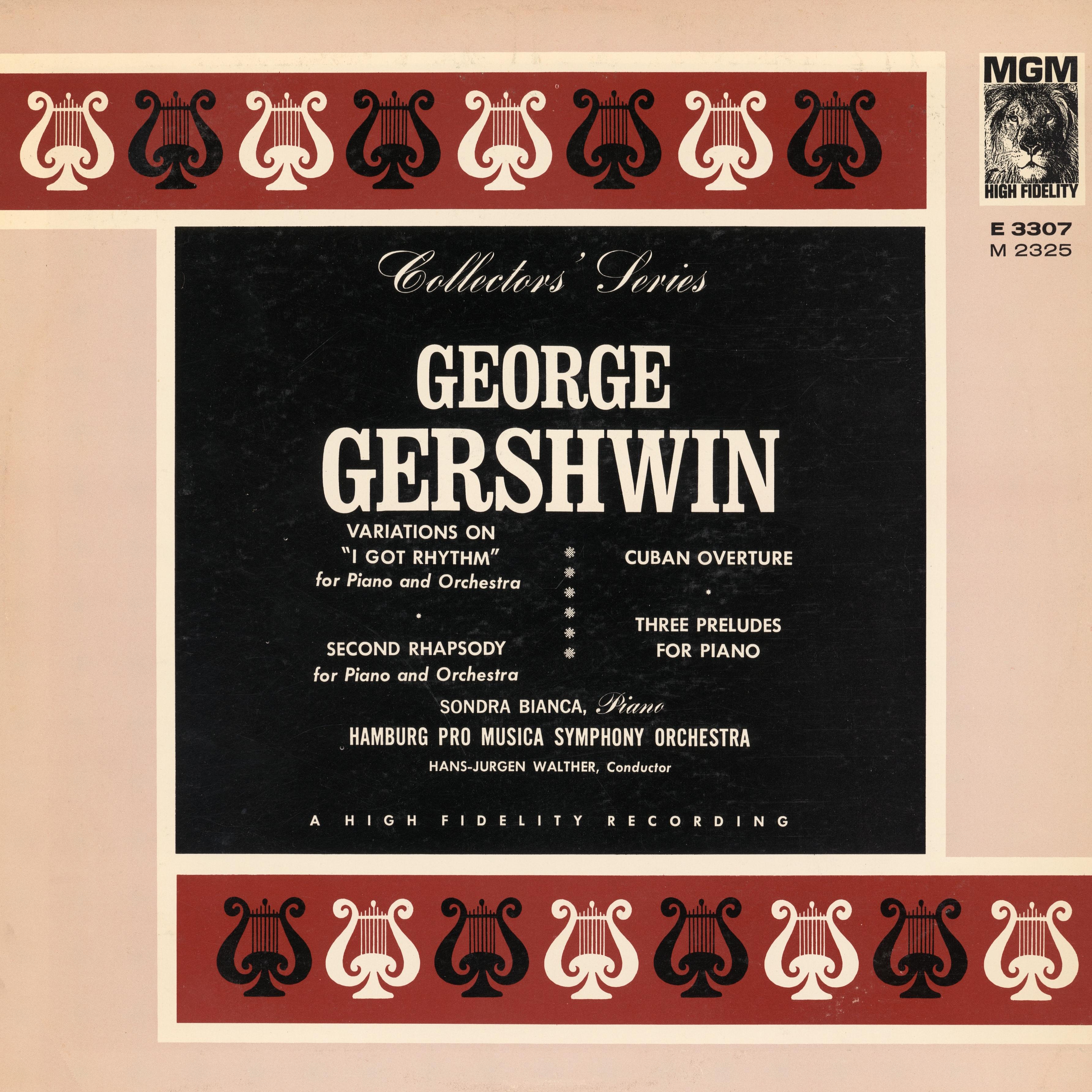 Recto de la pochette du disque Metro Goldwyn Mayer MGM 3307