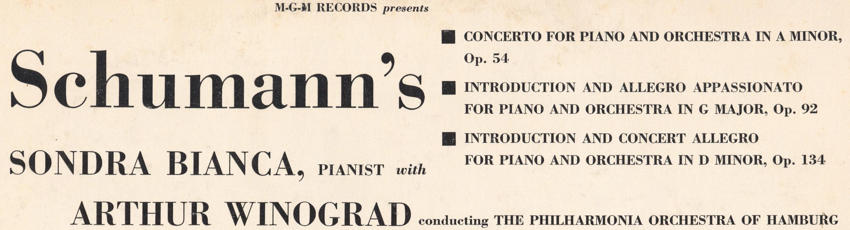 Extrait du verso de la pochette du disque Metro Goldwyn Mayer MGM E-3513
