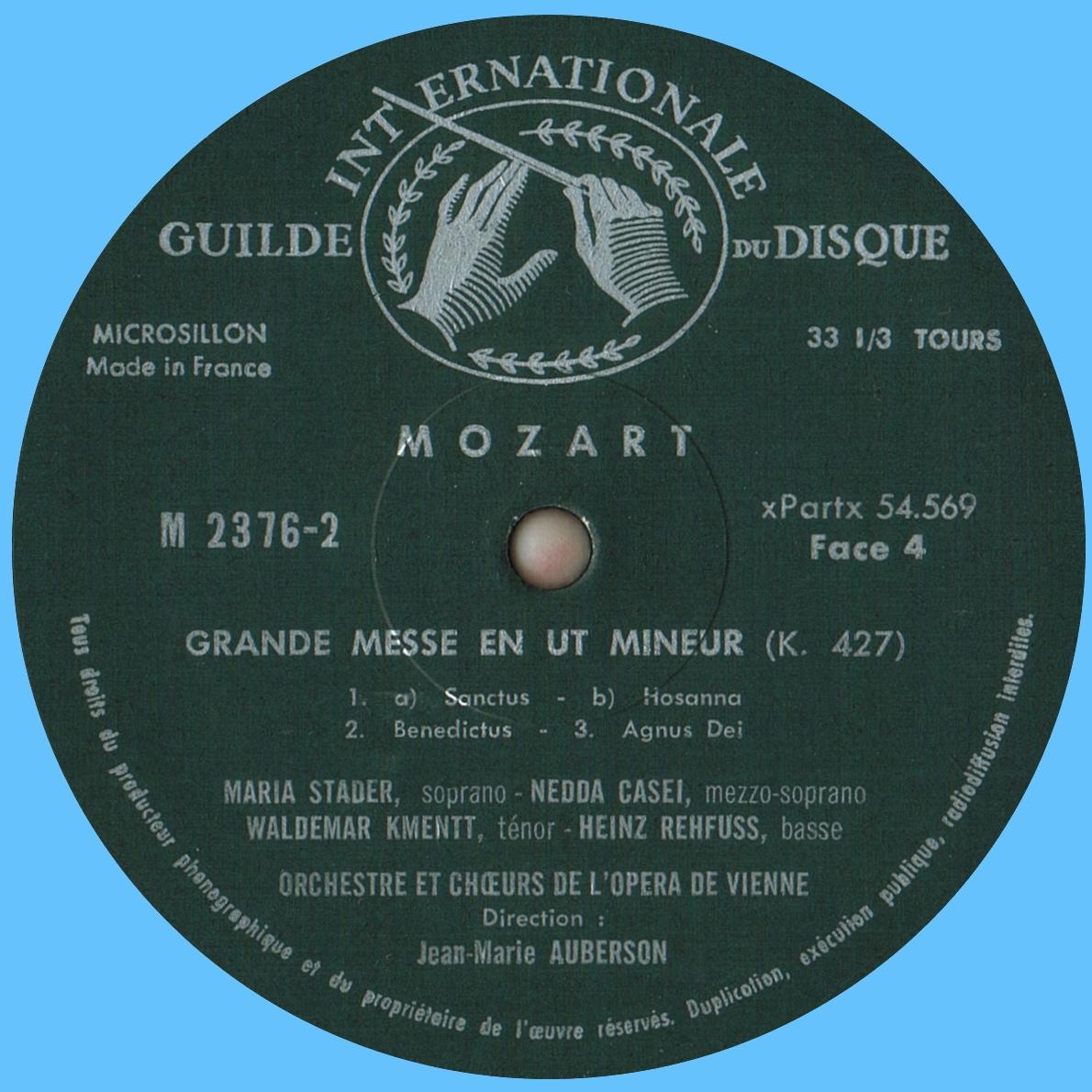Étiquette verso du 2e disque de l'album Musical Masterpiece Society MMS 2376