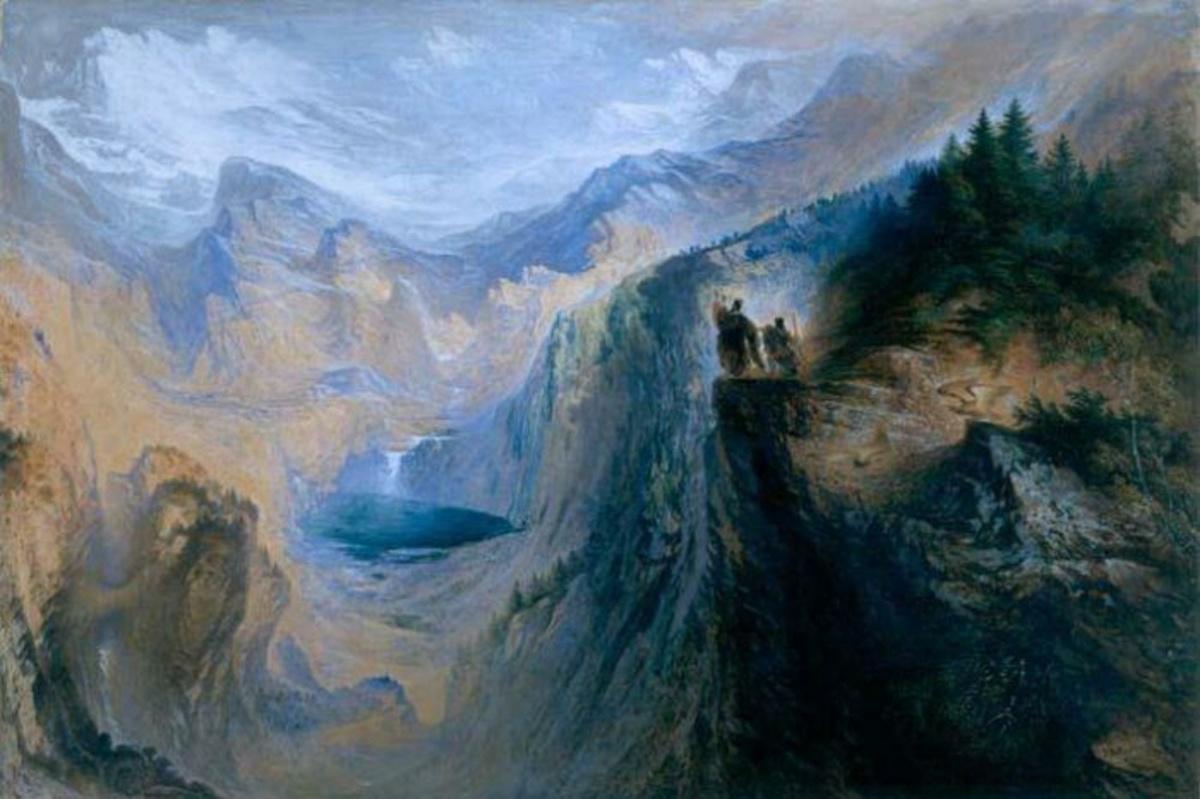 Manfred sur la Jungfrau, une peinture de John MARTIN, 1837