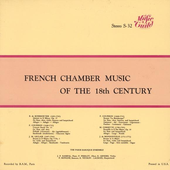 Recto de la pochette du disque Music Guild Stereo S-32
