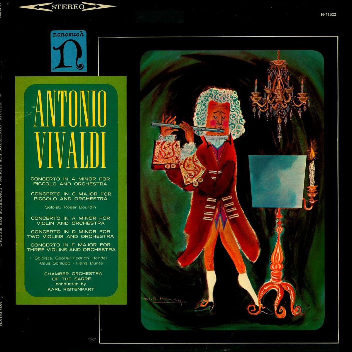 Recto de la pochette du disque Nonesuch H 71022, Cliquer sur la photo pour une vue agrandie