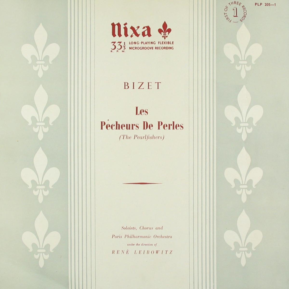 Recto de la pochette de l'album Nixa PLP 205, Cliquer sur la photo pour une vue agrandie et quelques infos