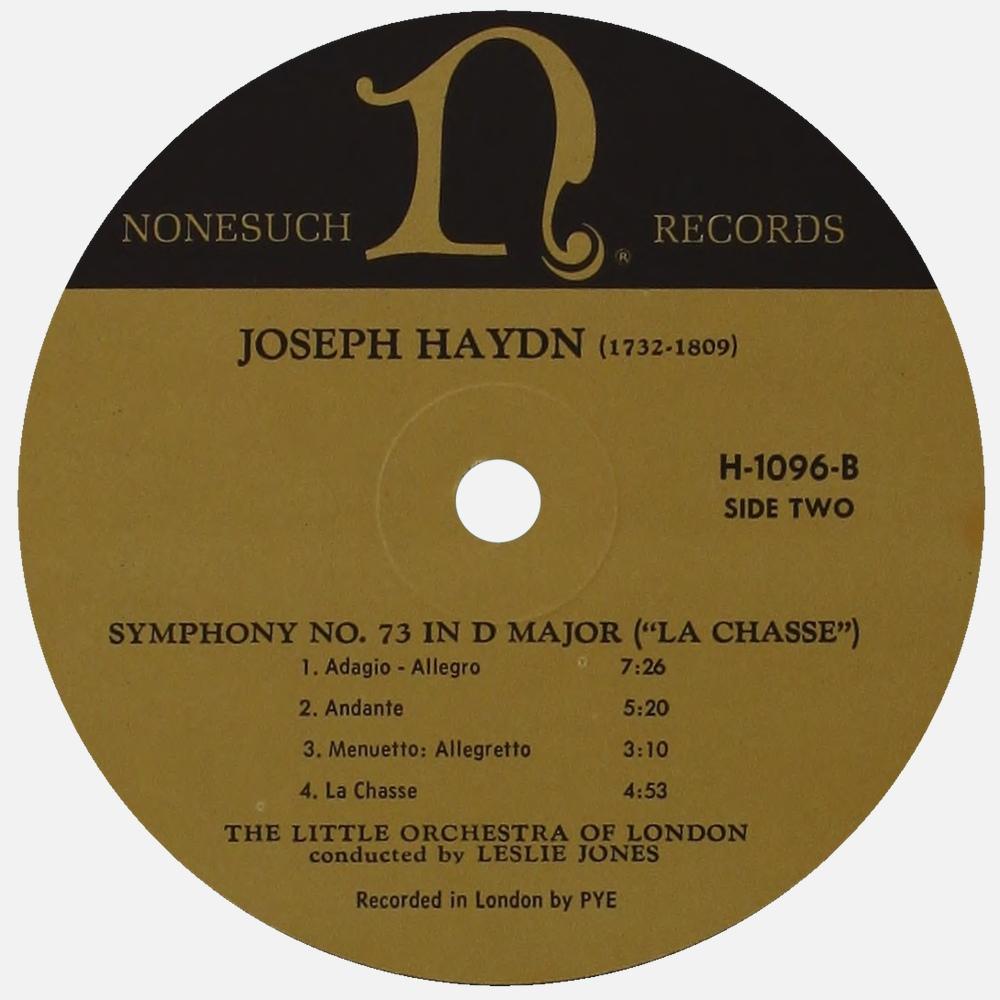 Étiquette verso du disque Nonesuch H 1096