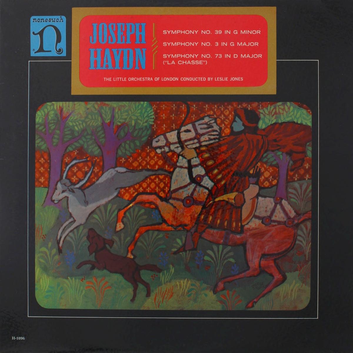 Recto de la pochette du disque Nonesuch H 1096