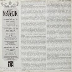 Verso de la pochette du disque Nonesuch H-1101