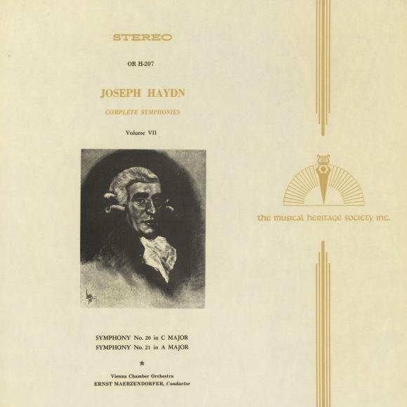 Recto de la pochette du disque Musical Heritage Society, OR Series, OR H-207