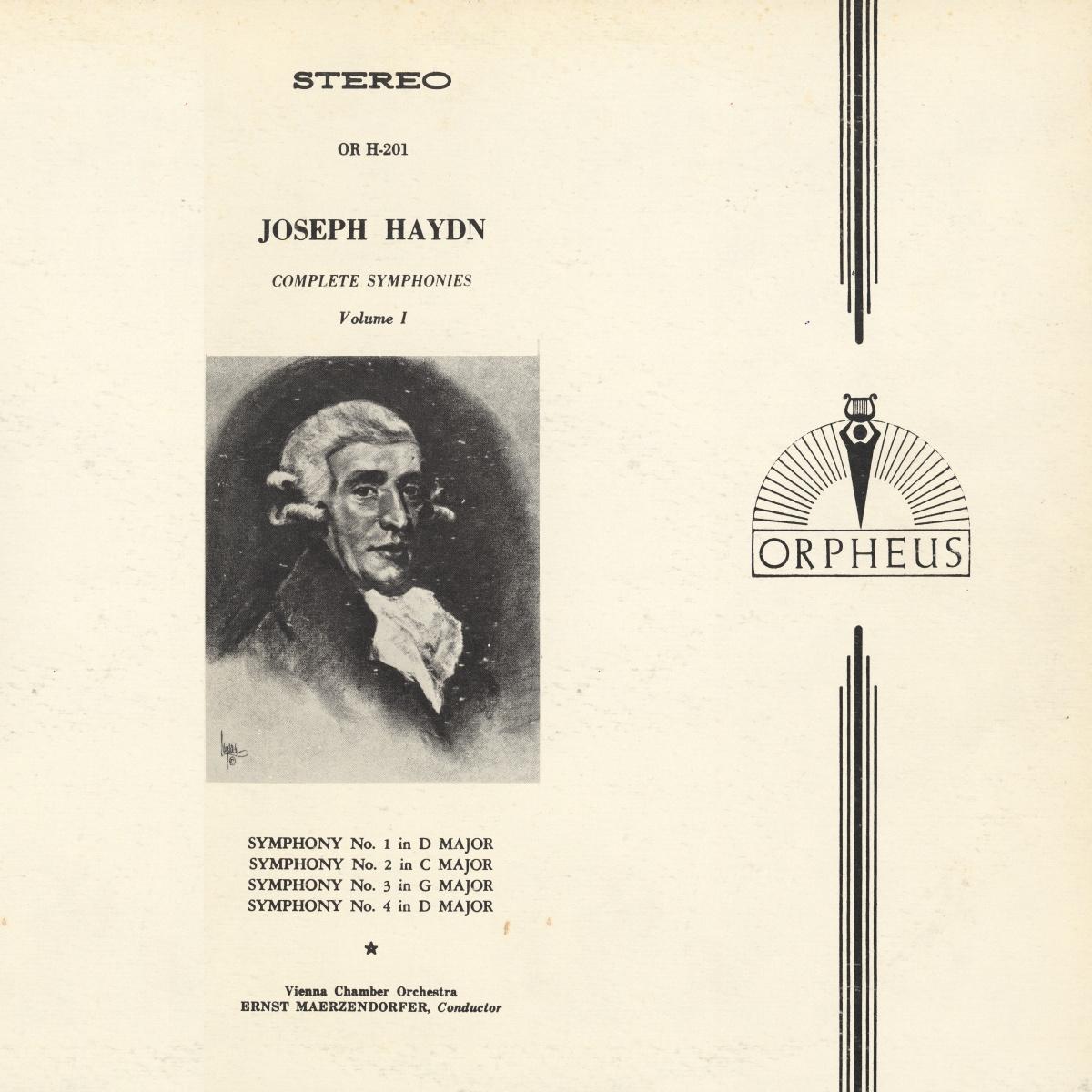 Recto de la pochette du disque MHS Orpheus OR H-101