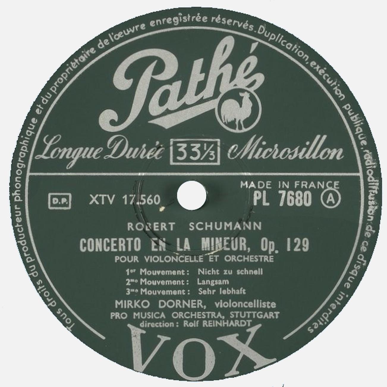 Étiquette verso du disque Pathé-VOX PL 7680, Cliquer sur la photo pour une vue agrandie