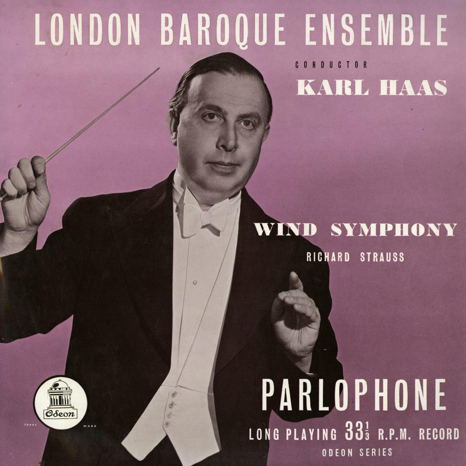 Recto de la pochette du disque Parophone PMA 1006, Cliquer sur la photo pour une vue agrandie