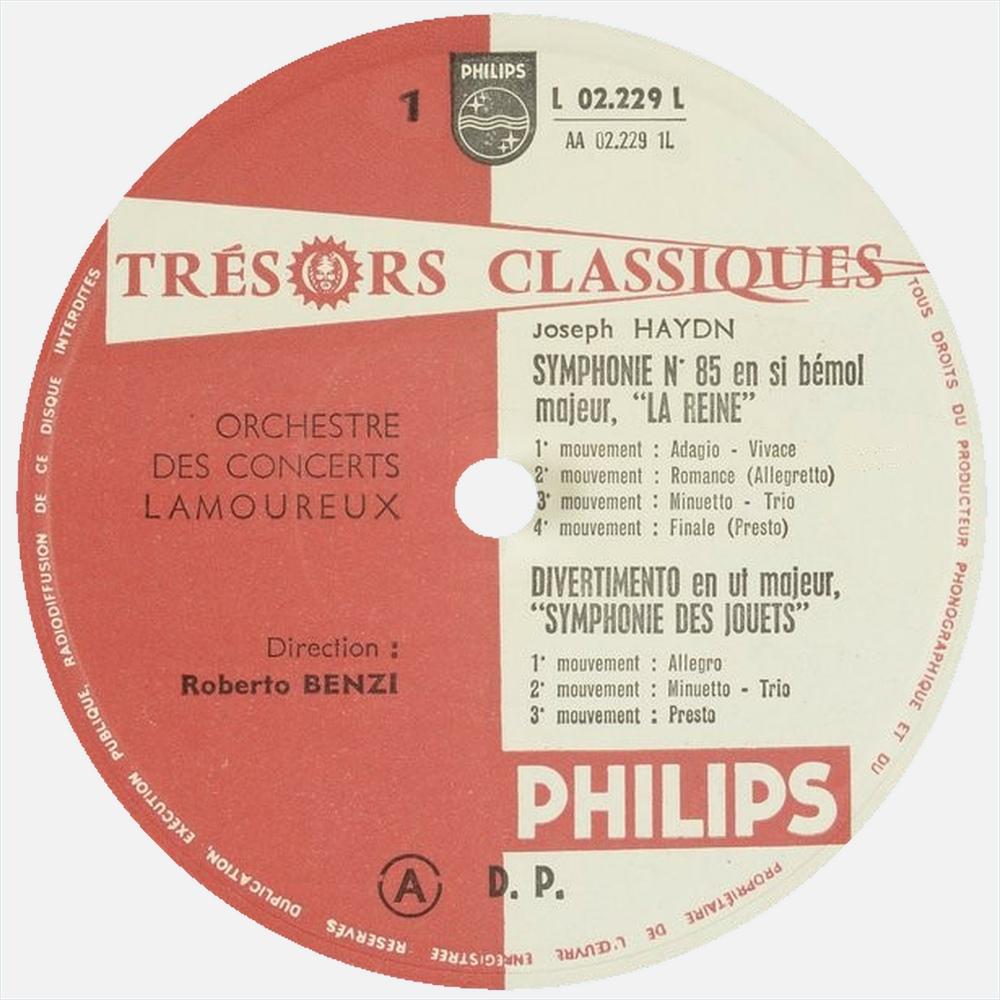 Étiquette recto du disque Philips L 02.229 L
