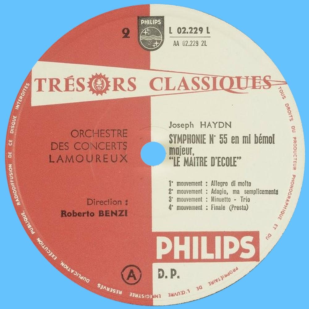 Étiquette verso du disque Philips L 02.229 L