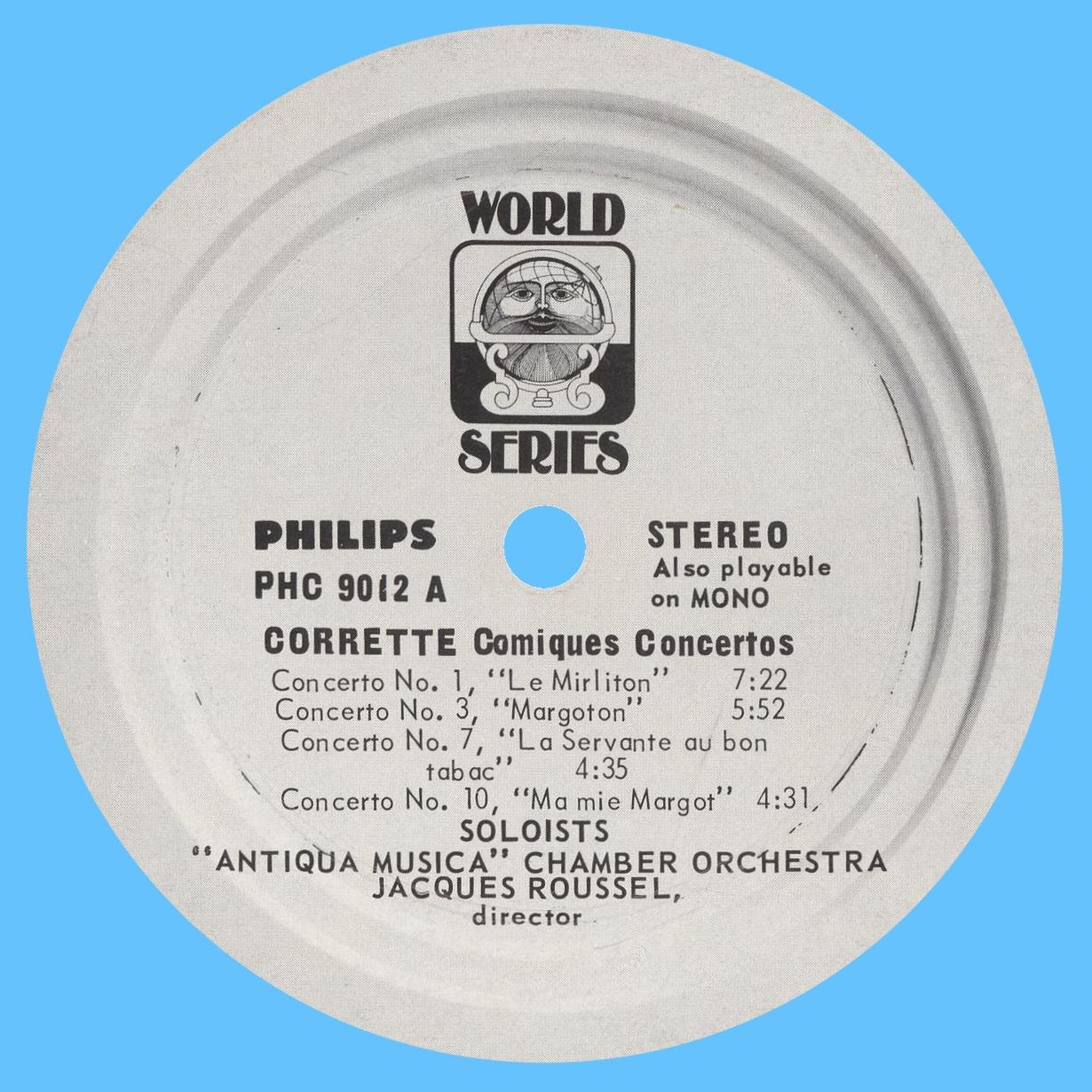 Étiquette recto du disque Philips PHC 9012