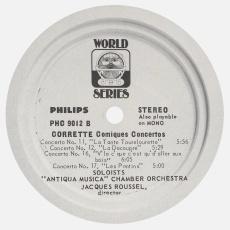Étiquette verso du disque Philips PHC 9012