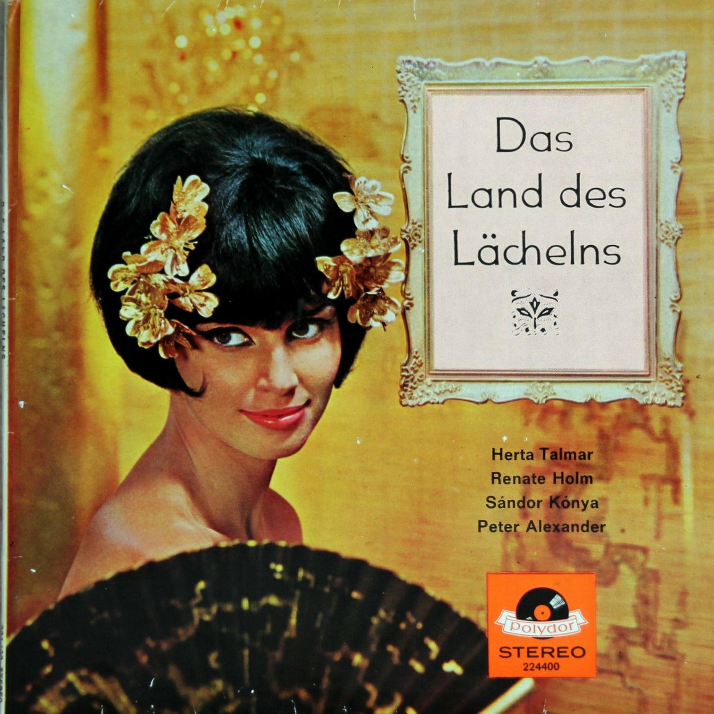 Recto de la pochette du disque Polydor 224 400 avec un portrait de Herta TALMAR dans le rôle de Lisa