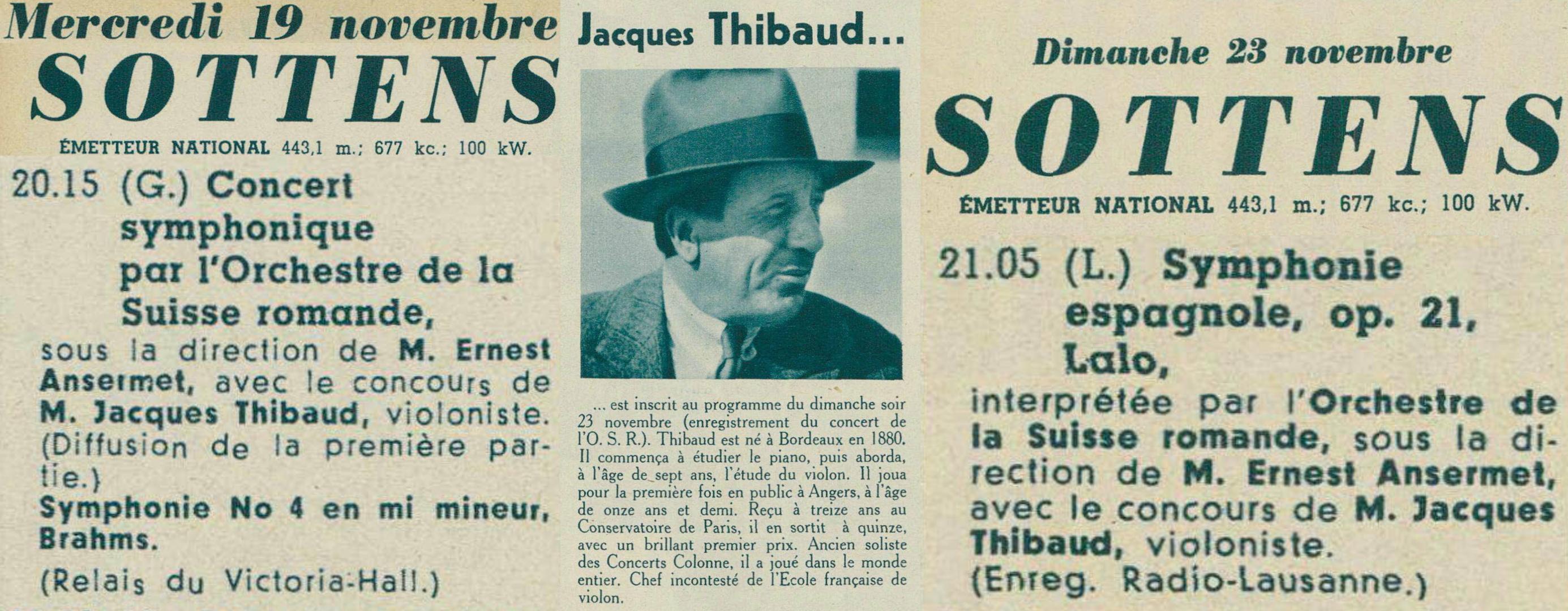 Montage d'extraits de la revue Radio Actualités des 14 et 21 novembre 1941, pages 1460, 1482 et 1486