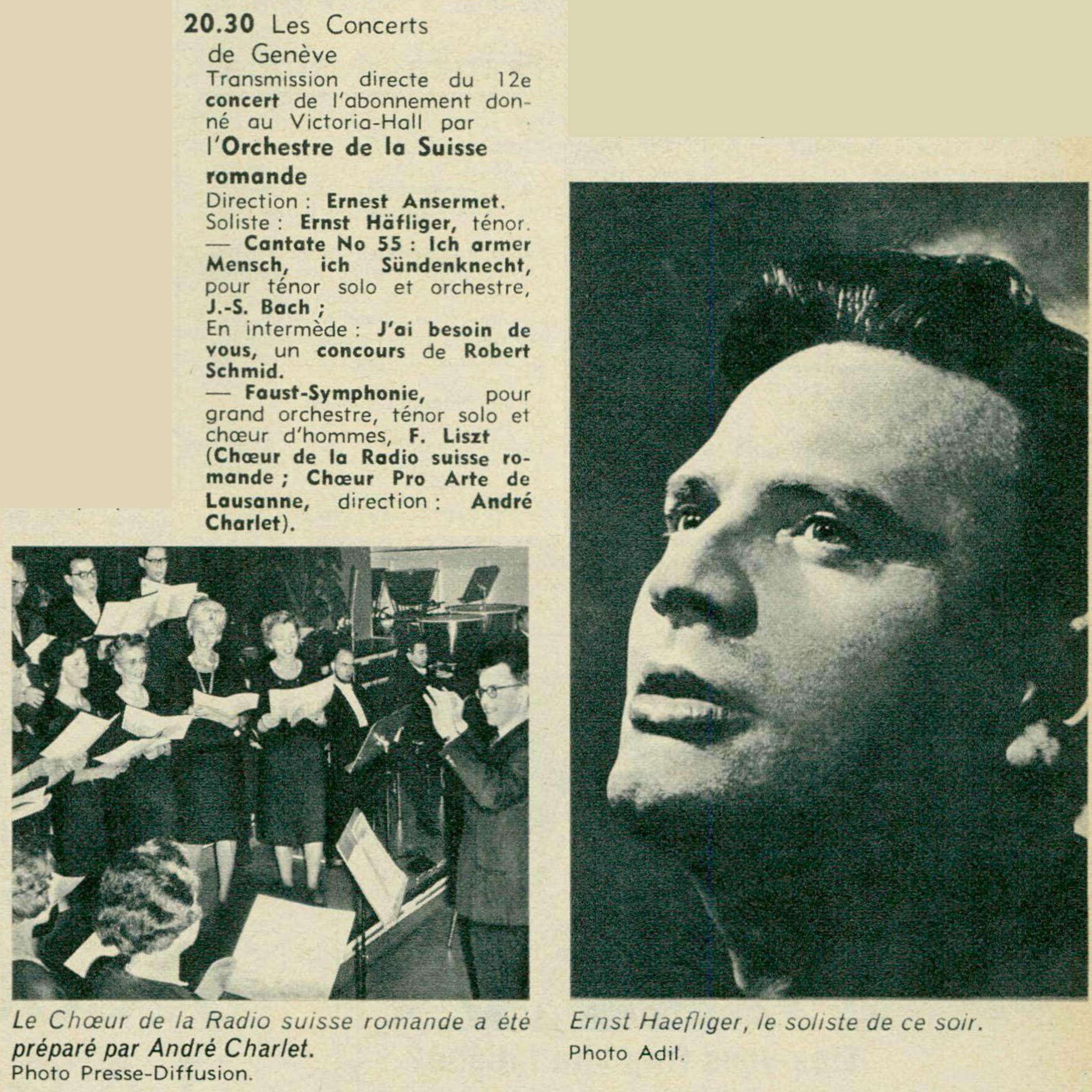 Extraits de la revue Radio je vois tout TV du 30 mars 1967, No 13, pages 82-83