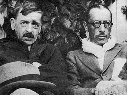 Charles Ferdinand RAMUZ et Igor STRAWINSKI, date et photographe inconnus, D.R.
