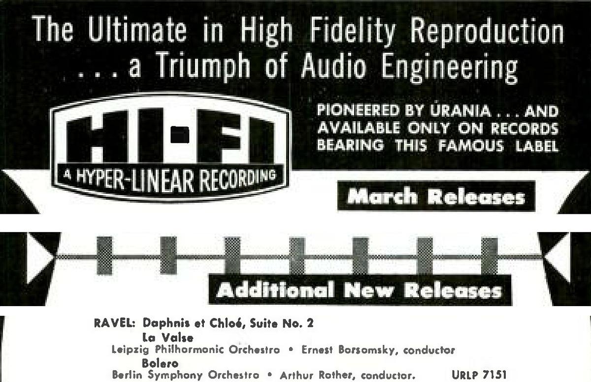 Extrait de la revue «High Fidelity», mars 1955, page 77