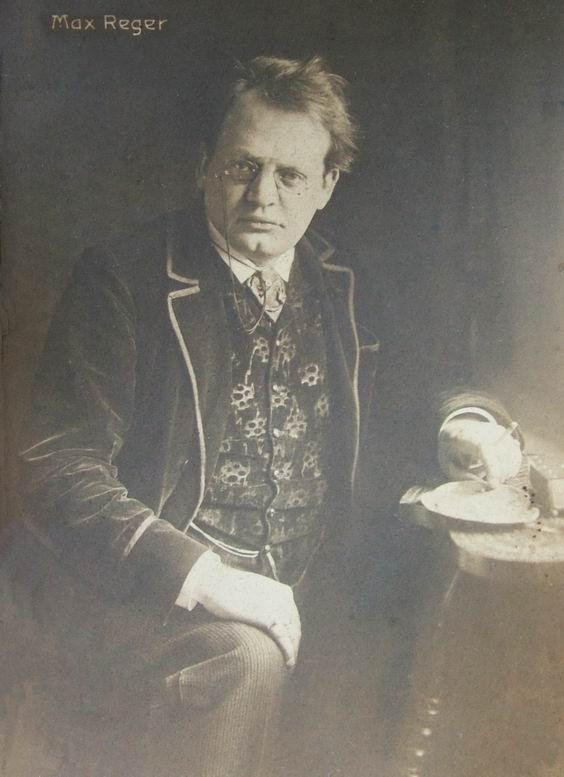 Max Reger, carte postale de 1910, cliquer pour voir un agrandissement