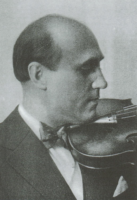 Le violoniste André de RIBAUPIERRE, Cliquer sur la photo pour une vue agrandie et les références