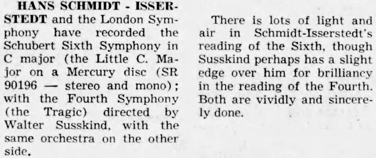 Annonce de la parution, par exemple dans le quotidien «The Miami Herald» du 17 avril 1960, page 153