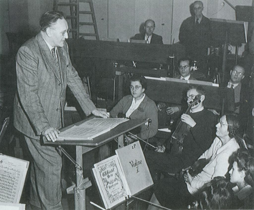 Hermann SCHERCHEN et l'Orchestre Municipal de Winterthur, cliquer pour une vue agrandie