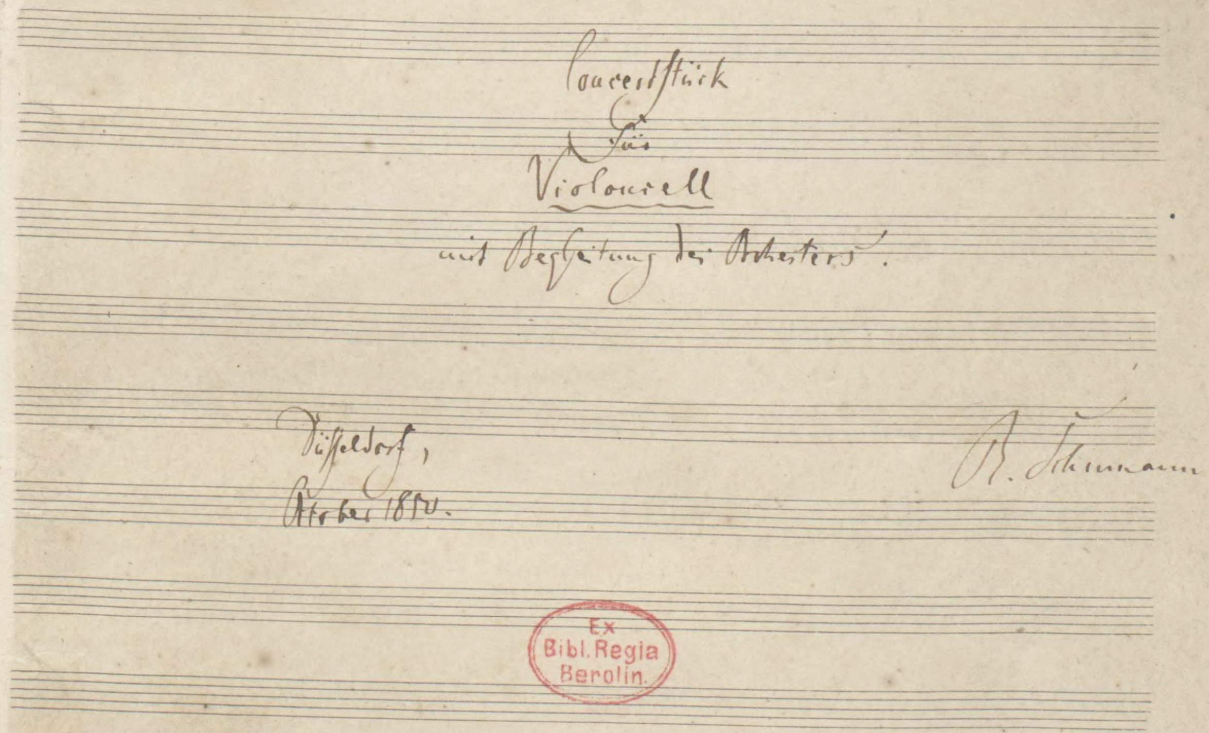 Page 9 de la partition autographe conservée à Berlin