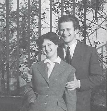 Laszlo Somogyi avec son épouse en 1951, fraîchement mariés, Cliquer sur la photo pour une vue agrandie et quelques infos