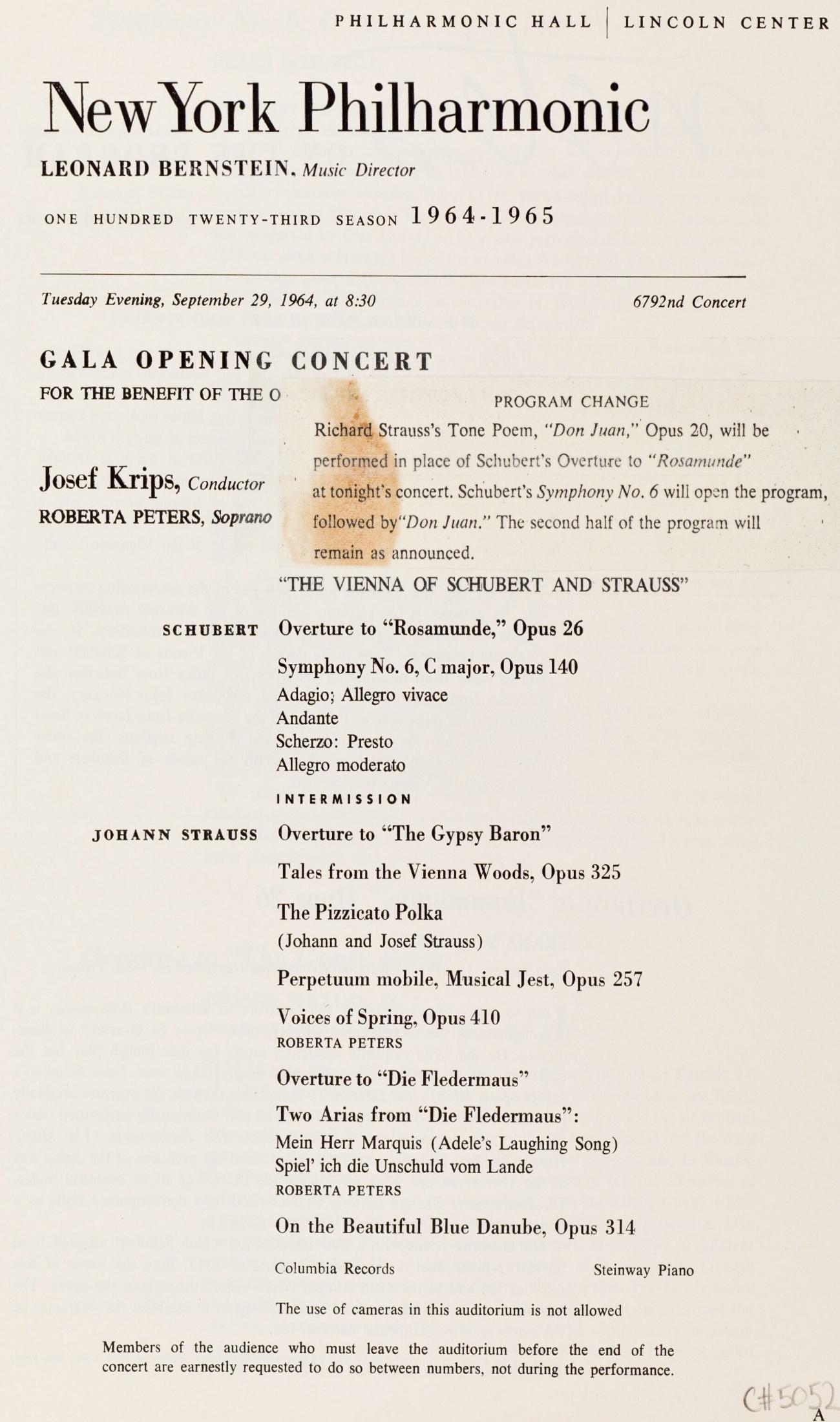 Extrait de la brochure-programme du concert, Cliquer sur la photo pour une vue agrandie et quelques infos