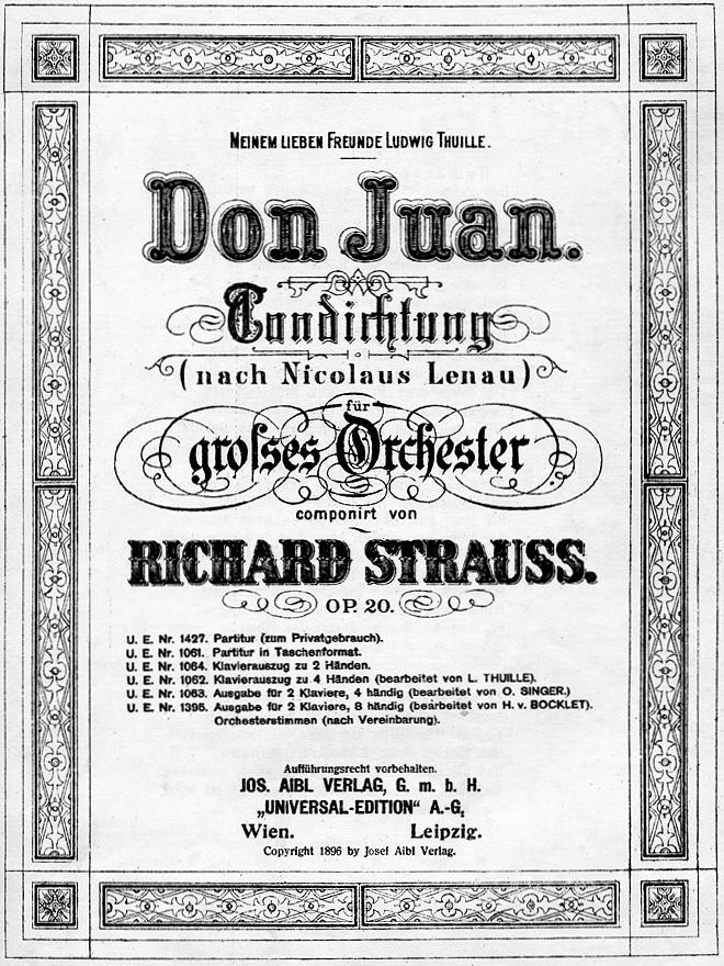 Page de couverture de la partition, München, Jos. Aibl Verlag, 1890, cliquer pour une vue agrandie