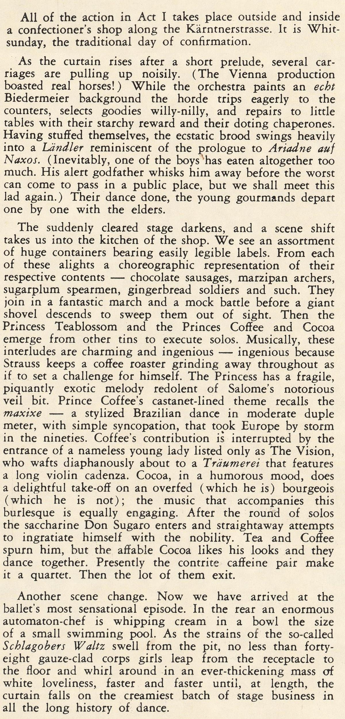 Action du 1er acte, cité des notes de James Lyons publiées au verso de l'album Lyrichord Stéréo LLST 741