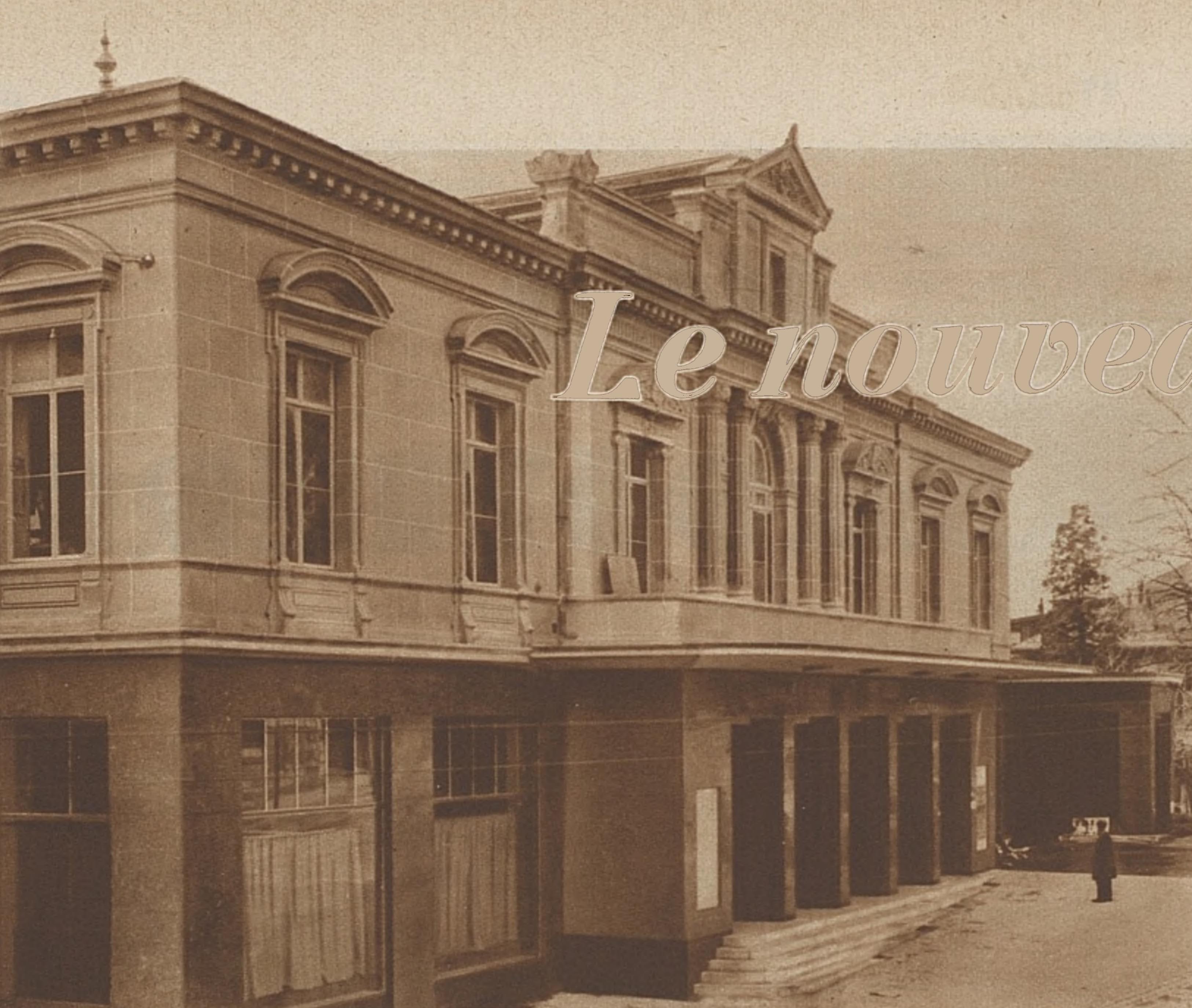La façade du Théâtre Municipal de Lausanne après sa restauration de 1932, une photo publiée dans la revue L'Illustré du 14 avril 1932, No 16, page 472