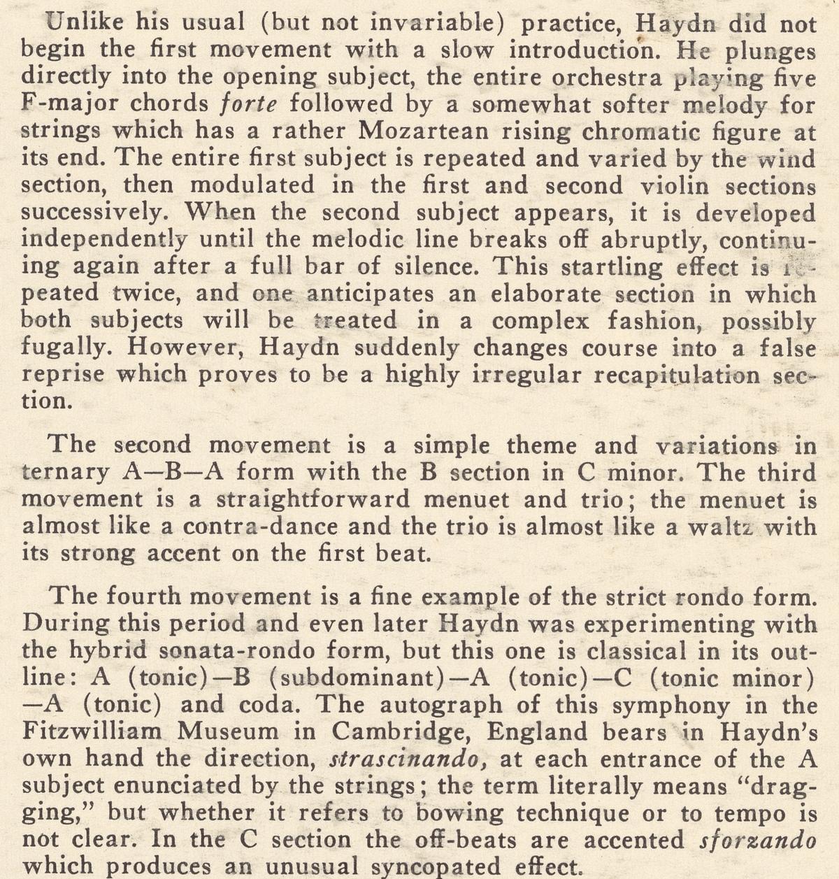 Extrait du texte publié au verso de la pochette du disque Westminster WST 17043