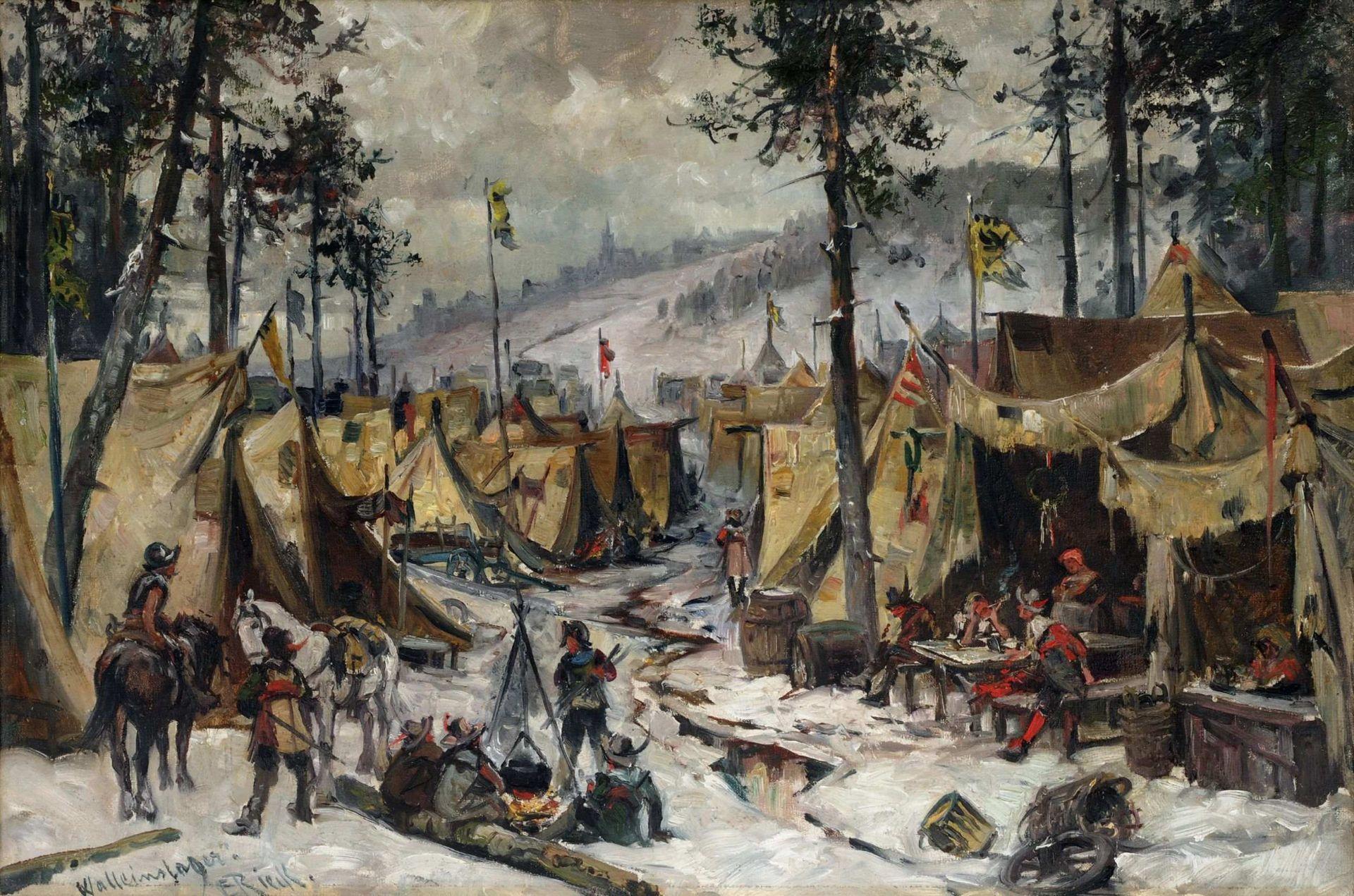 Le camp de Wallenstein, une peinture d'Emil Rieck