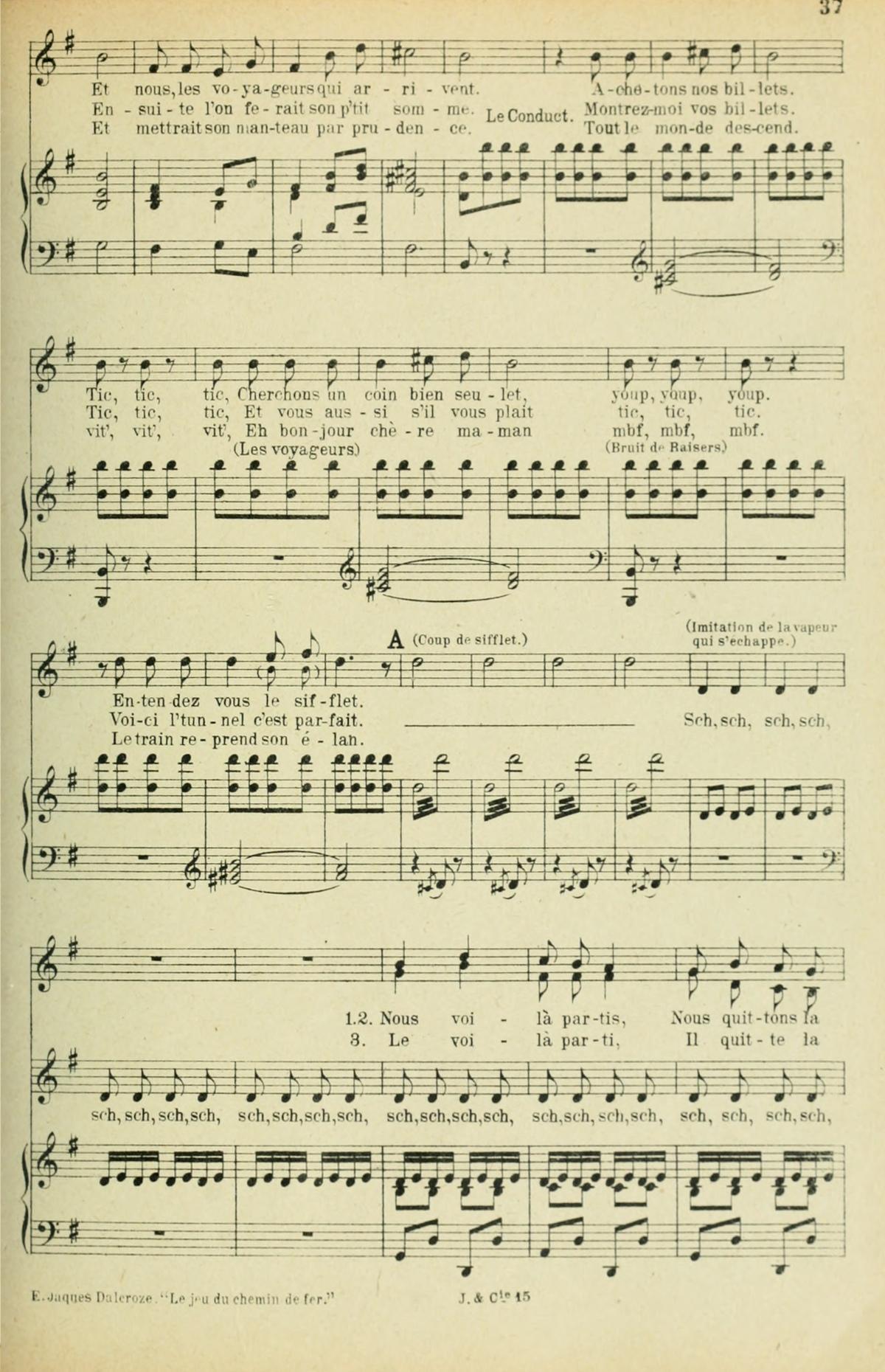 Extrait 2 de la partition publiée dans le recueil «<i>Chansons d'Enfants</i>», Op. 42