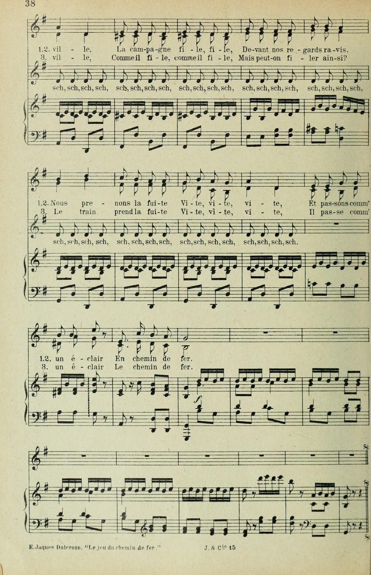 Extrait 3 de la partition publiée dans le recueil «<i>Chansons d'Enfants</i>», Op. 42